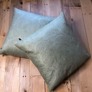 Other - Down decorative pillows (set of 2) sage green